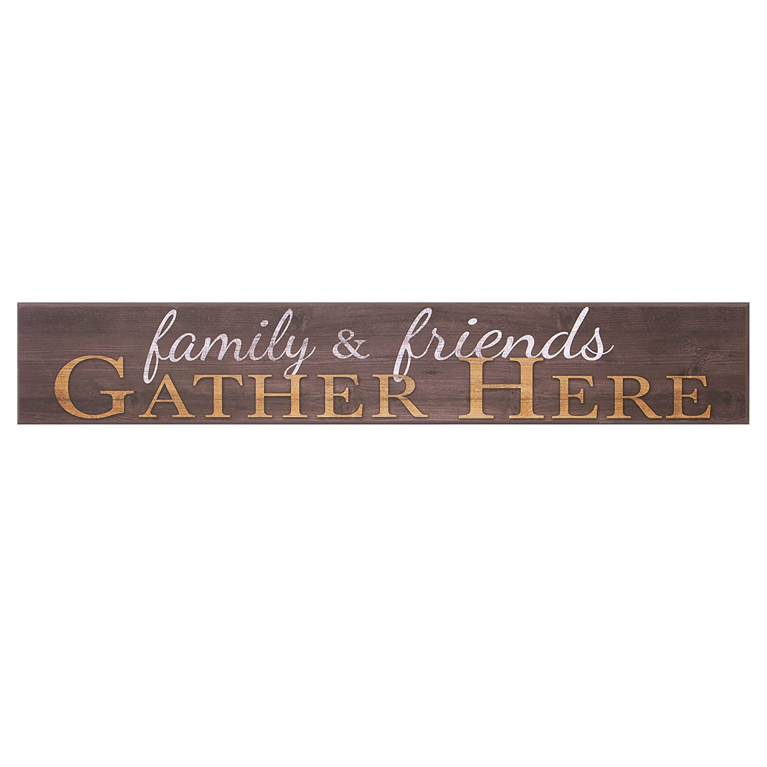 "Patton Wall Decor Family and Friends Gather Here Wood Wall Art, 6"" x 36"""