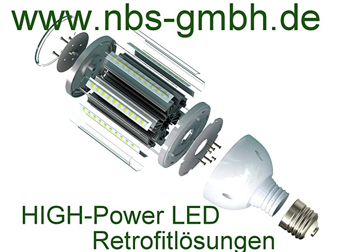 Bombilla LED de la lámpara de carretera E27/E40 230 V 15 W 27 W