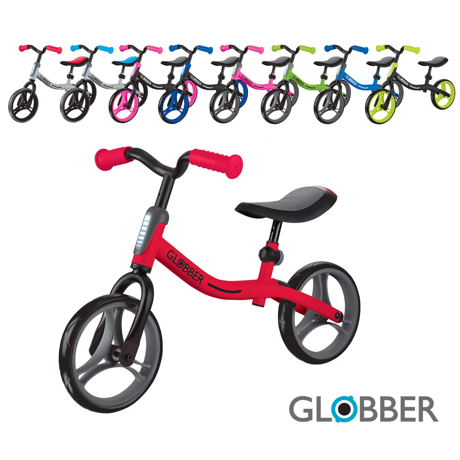 Toddler Bike Teaches Essential Motor Skills and Balance Before transitioning to Their First Pedal Bike Adjustable Balance Bike for First-timers Globber GO Bike Compact