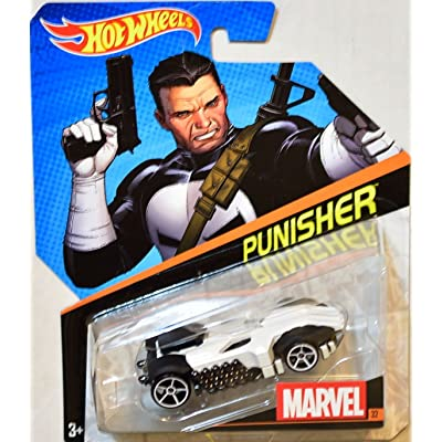 Hot Wheels, Marvel Character Car, Punisher #32: Toys & Games