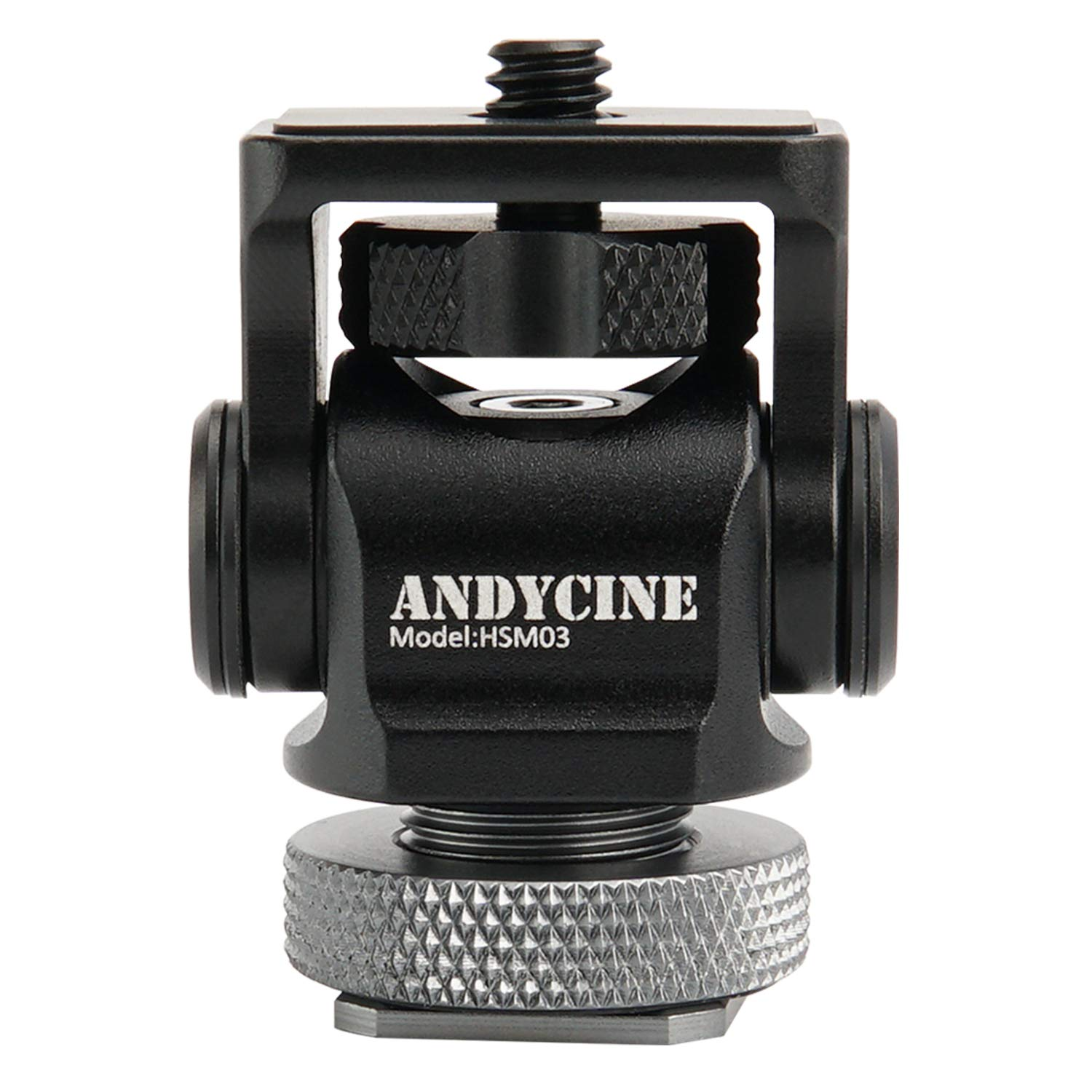 ANDYCINE Mini Hot Shoe Stand Monitor Mount Vlogger Original Mount 176 Degree Upper Rotation 360 Degree Base Rotations with Screw Fixture Camera EDC Tools Box(Version 1.2) by ANDYCINE
