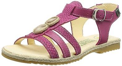 El Naturalista Kids Samoa, Girls' Sandals, Pink (Magenta), 8.5 Child