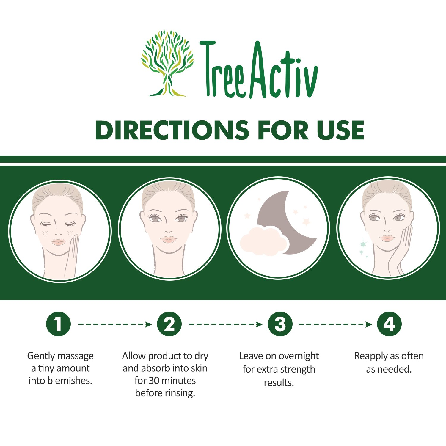 TreeActiv Cystic Acne Spot Treatment, Best Extra Strength Fast Acting Formula for Clearing Severe Acne from Face and Body, Gentle Enough for Sensitive Skin, Adults, Teens, Men, Women (0.25 Ounce) by TreeActiv (Image #7)