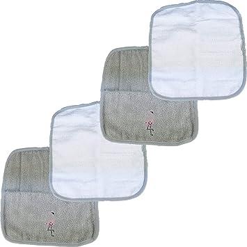 Pink Waschtücher 4er pack Baby Waschlappen Handtücher 100/% Baumwolle 4stück