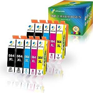 Jettruemedia 564XL Compatible Ink Cartridge Replacement for HP 564XL 564 XL Ink Cartridges for Photosmart 5520 7520 6520 5510 6510 6515 7510 7525 DeskJet 3520 3522 Officejet 4620 Premium C309A C410A