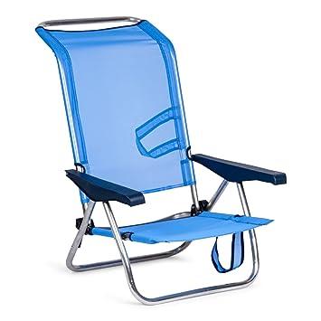 Solenny Silla Plegable, azul, 77x60x14 cm, 50001072720095