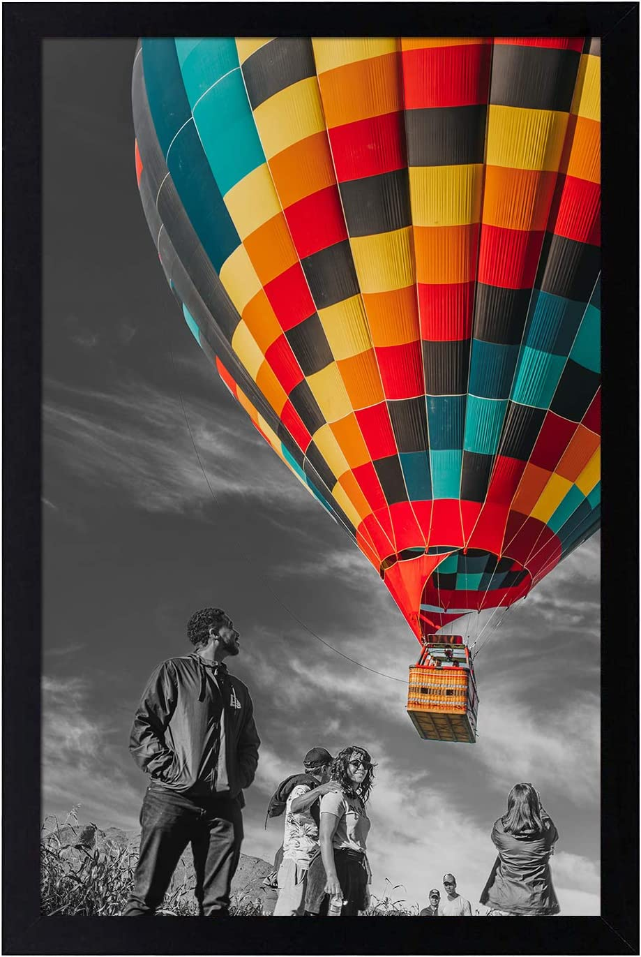 Golden State Art, 11x17 Inch Poster Frame - Black - Landscape/Portrait - Swivel Tabs - Simple and Stylish