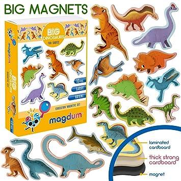 MAGDUM Imanes Animales Dinosaurios - Imanes Pizarra Infantil para ...