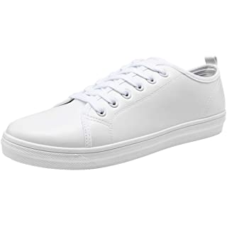 JOUSEN Mens White Sneakers for Men Memory Foam Fashion Sneaker Simple Casual White Shoes (10.5,White)