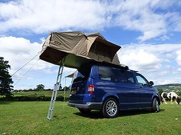 Tienda de campaña de expedición para techo de 3 personas YM-C1011RTA, 1,4 m, con anexo para 4x4, furgonetas y autocaravanas: Amazon.es: Coche y moto