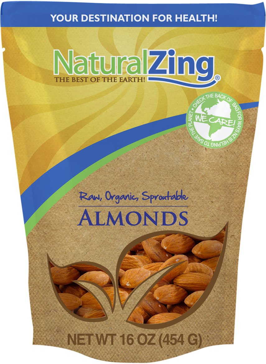 Raw Organic Sproutable Almonds-1 lbs.