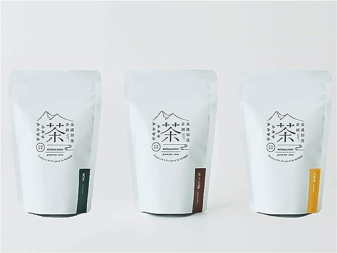 美濃加茂茶舗 【特別価格】茶葉3種セット(煎茶・ほうじ茶・玄米)各50g 【国産】白川茶 高級茶 日本茶 ギフト プレゼント