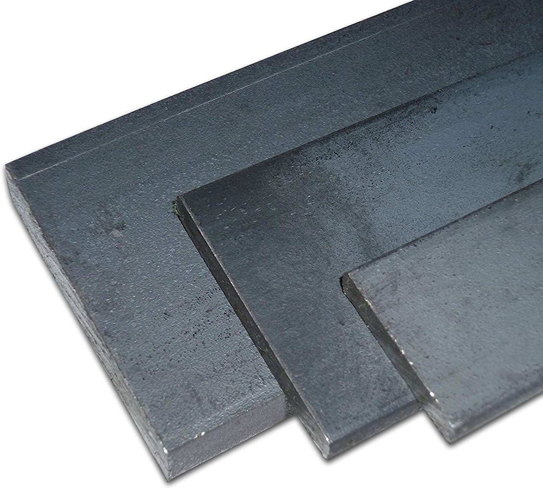 Longueur/ Noir Fer plat B/&T S235JR+AR//ST 37 -3 mm environ1500/mm