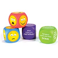 Learning Resources LER7289 Emotion Cubes (4 Piece),Multi-color