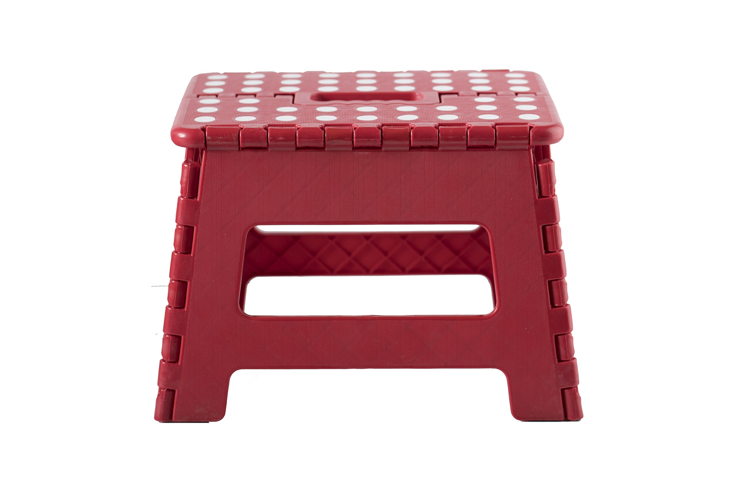 Viking Non-Slip Folding Step Stool for Kids and Adults (Red)