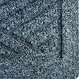Hudson Exchange Waterhog Diamond Fashion Polypropylene Fiber Entrance Indoor/Outdoor Floor Mat, 35'' L x 35'' W, 3/8'' Thick, Bluestone