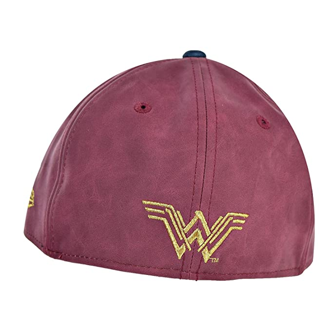 5b6c34ad59b90 New Era Wonder Woman Battle Armor 59Fifty Unisex Fitted Hat Cap Light  Red Gold 11453091 at Amazon Men s Clothing store