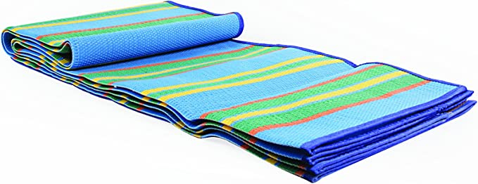 Amazon Com Camco Handy Mat With Strap Perfect For Picnics Beaches Rv And Outings Weather Proof And Mold Mildew Resistant Blue Green 60 X 78 42805 Automotive