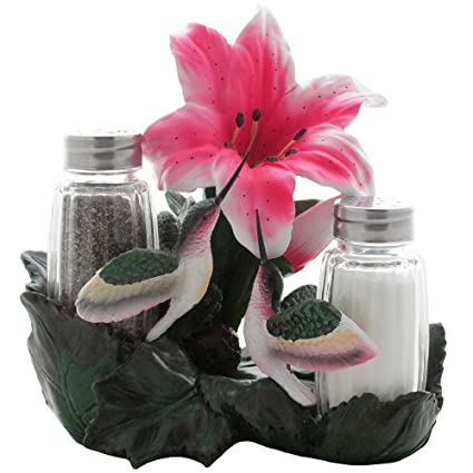 Hummingbird Salt and Pepper Shaker Holder Set