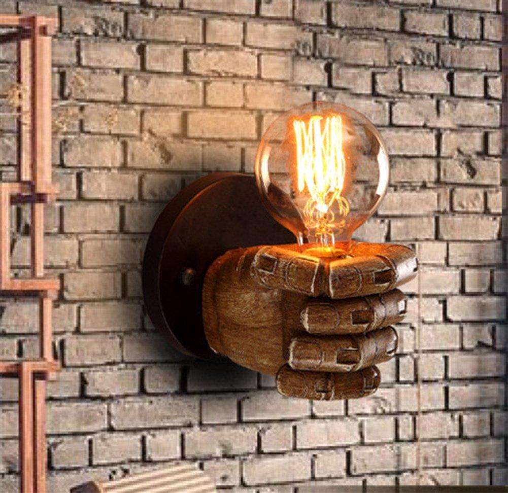 PLYY Lámpara de Pared Decorativa Plegable de la cabecera del Resina Dormitorio de la Resina del iluminación Retra Creativa del Pasillo de la Barra del Restaurante, B a49559