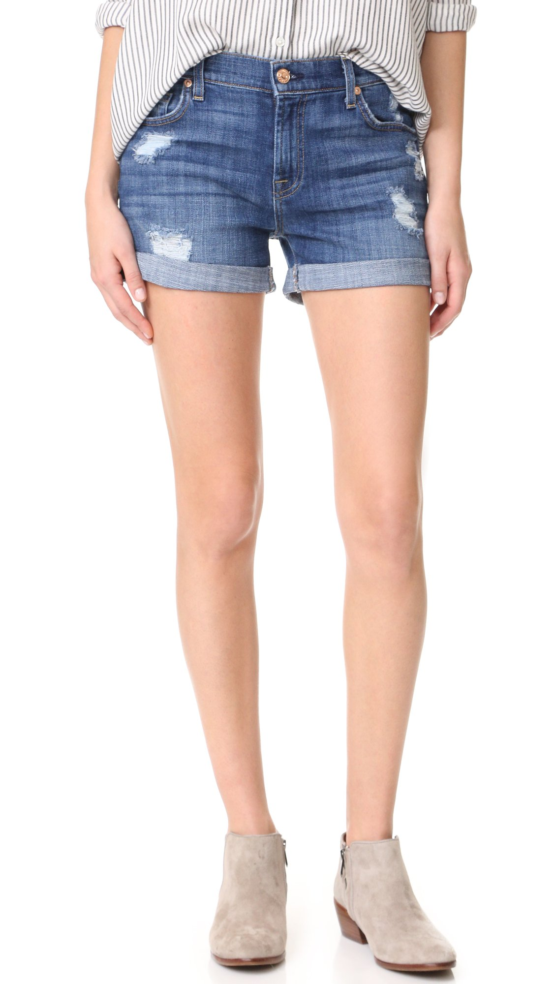 7 For All Mankind Women's Roll Shorts, Barri, 30