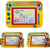 Cisixin Erasable Color Magnetic Drawing Board Doodle for Kids/ Toddlers/ Babies with 2 Stamps and 1 Pen Travel Size