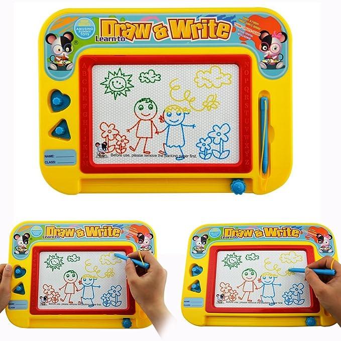 Gearmax Pizarra Mágica Multicolor Borrable Magnético Juguetes Educativos Tablero de Dibujo para Niños 3 Años