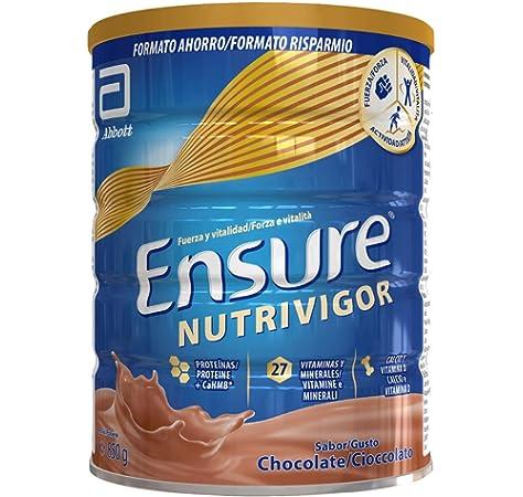 Ensure Nutrivigor - Complemento Alimenticio para Adultos, con HMB, Proteínas, Vitaminas y Minerales, como el Calcio - Sabor Chocolate - 850 g: Amazon.es: Salud y cuidado personal