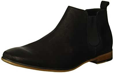 6eee2aca11 Kenneth Cole REACTION Guy Leather Chelsea Boot Black