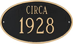 Montague Metal Historical Oval Address Sign Plaque, 8.5