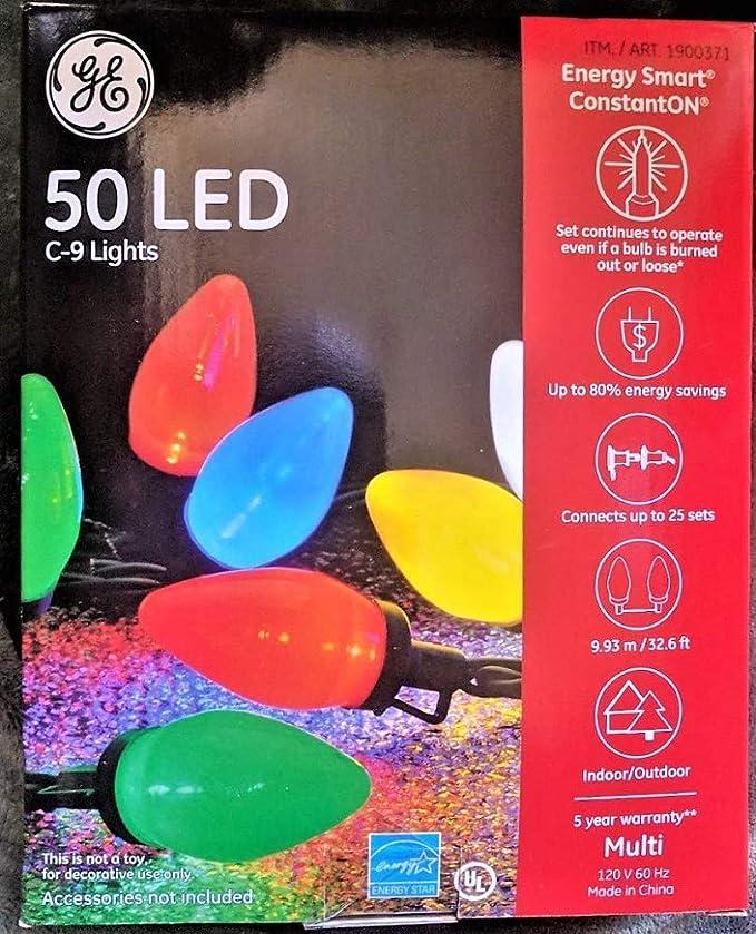 GE Globe Style Xmas Lights 50 Bulbs Multi Color  Holiday Classics