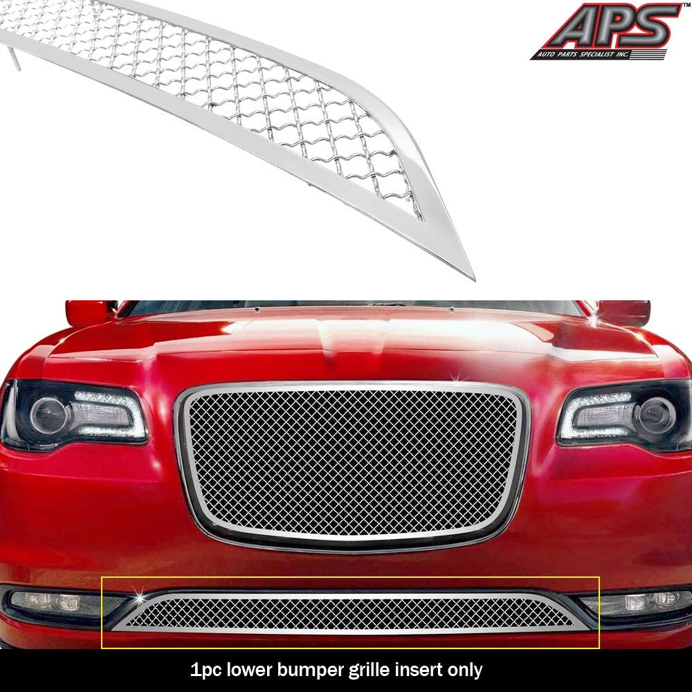 APS Compatible with 2015-2020 Chrysler 300C 300S Upper Stainess Steel Chrome Mesh Grille N19-S87367R
