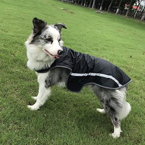 TFENG Impermeable para Perros Abrigo Reflectante en Pilas Funda para Perros Chaqueta de Invierno 3 Colores XS-3 X L: Amazon.es: Productos para mascotas