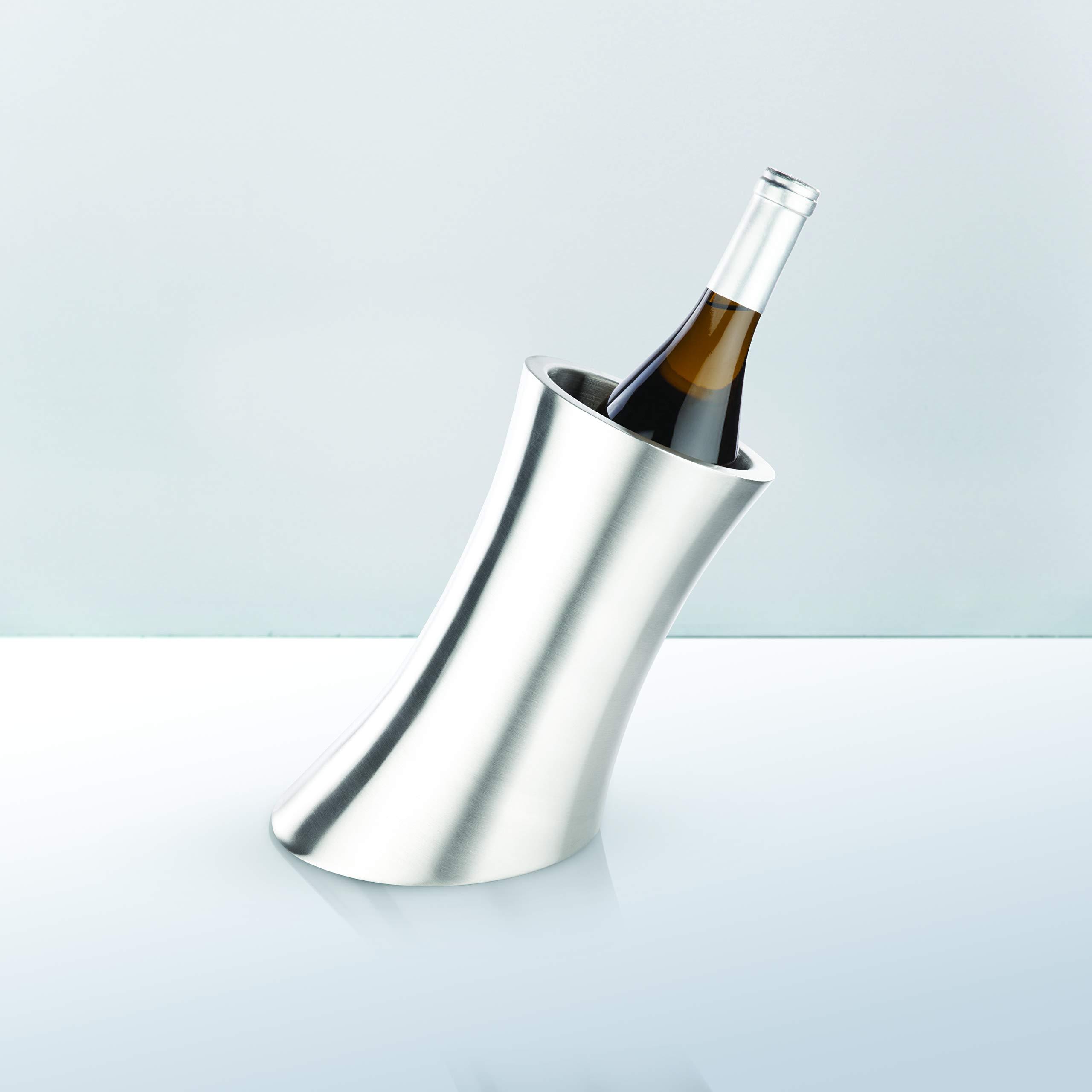 Harrison Convex Stainless Steel Insulated Wine Bottle Chiller by Viski by Viski