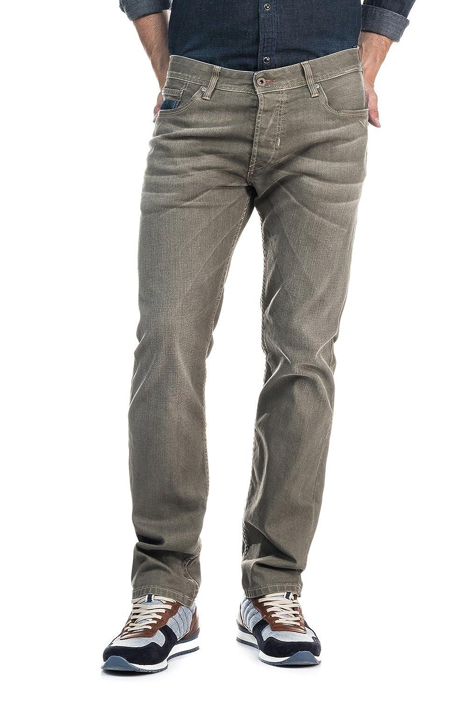 SALSA Green skinny leg Slender Slim Carrot trousers with wear
