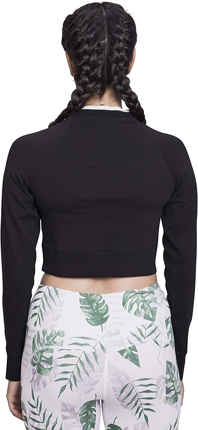 Satva Premium Organic Cotton Cropped Long Sleeve T-Shirt Round Neck for Yoga Workout Running Sports Training Cycling UNION CROPPED TEE