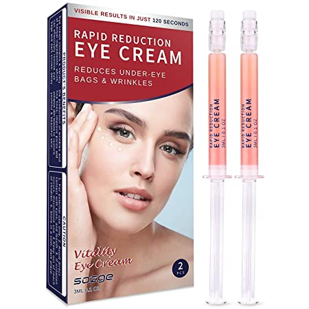 Rapid Reduction Eye Cream for Rapidly Reducing Bagginess, Puffiness, Dark Circles and Wrinkles in 120 Seconds by SOZGE 2Pcs