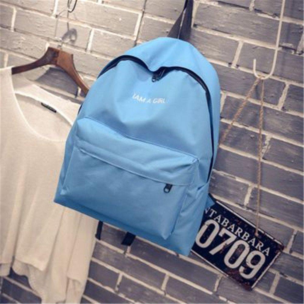 WJIANLL Letra elegante lienzo hombros paquete paquete paquete y el middle school girl parejas mochilas, secc. ebda9f