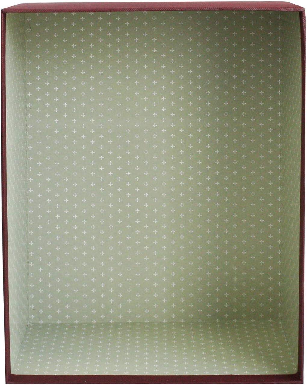 Creme Box mit Blauem Deckel Schokoladenbraunes Interieur und Dekoratives Band 23 cm x 17 cm x 6,5 cm Emartbuy Starrer Luxus Rechteck Pr/äsentation Geschenkbox