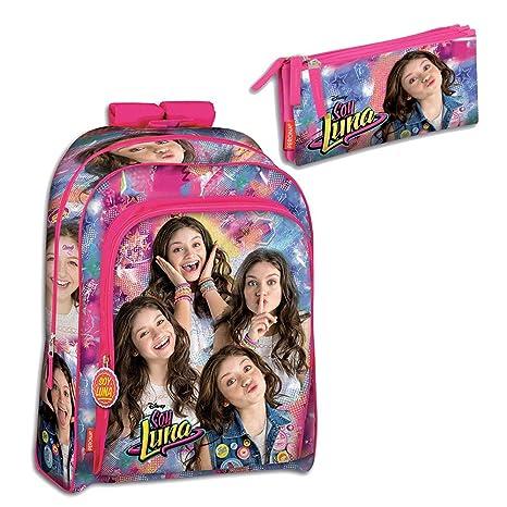 Amazon.com | Backpack Set Soy Luna Disney Bundle School Bag Pencilcase Unique | Kids Backpacks