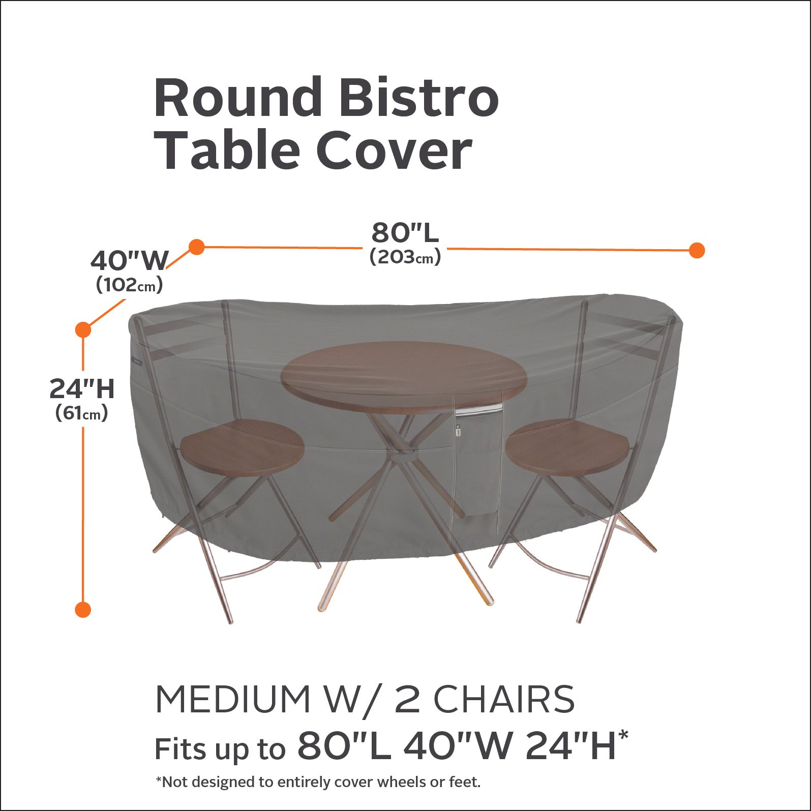 Classic Accessories Ravenna Bistro Patio Table Chair Set