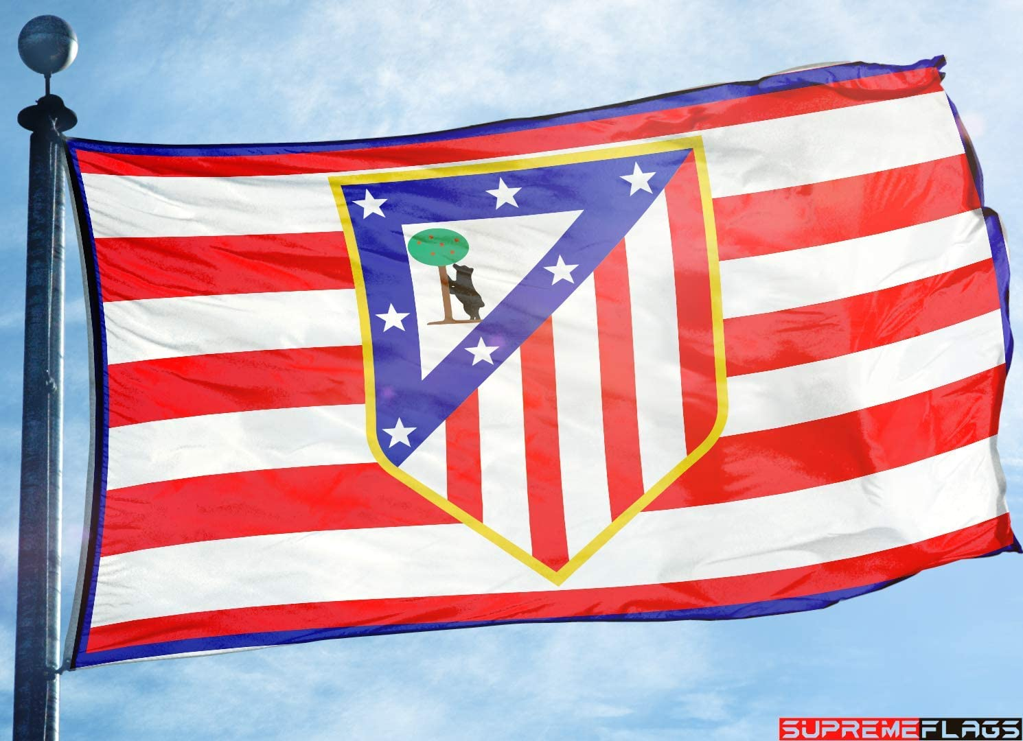 Bandera del Atlético de Madrid 3 x 5 Colchoneros España Futbol Bandera Vintage: Amazon.es: Deportes y aire libre