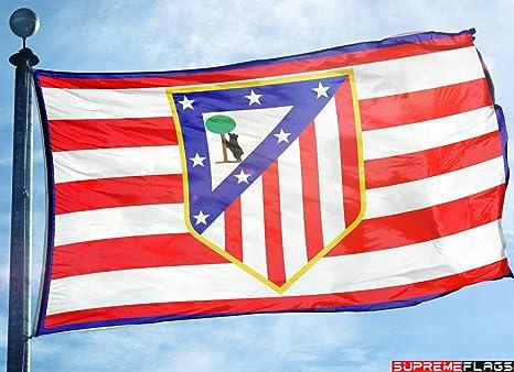 Bandera del Atlético de Madrid 3 x 5 Colchoneros España Futbol ...