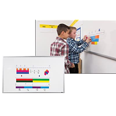Didax Educational Resources 211024 Magnetic Fraction# Line Set, Multi: Toys & Games