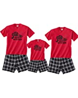 Family Movie Night Cotton Boxer Short Sleepwear Set