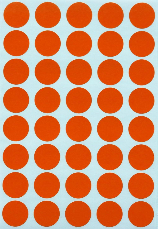 in verschiedenen Farben Gr/ö/ße 1,9 cm Sticker 600 Vorteilspack von Royal Green Klebepunkte Rot 19 mm runde Etiketten
