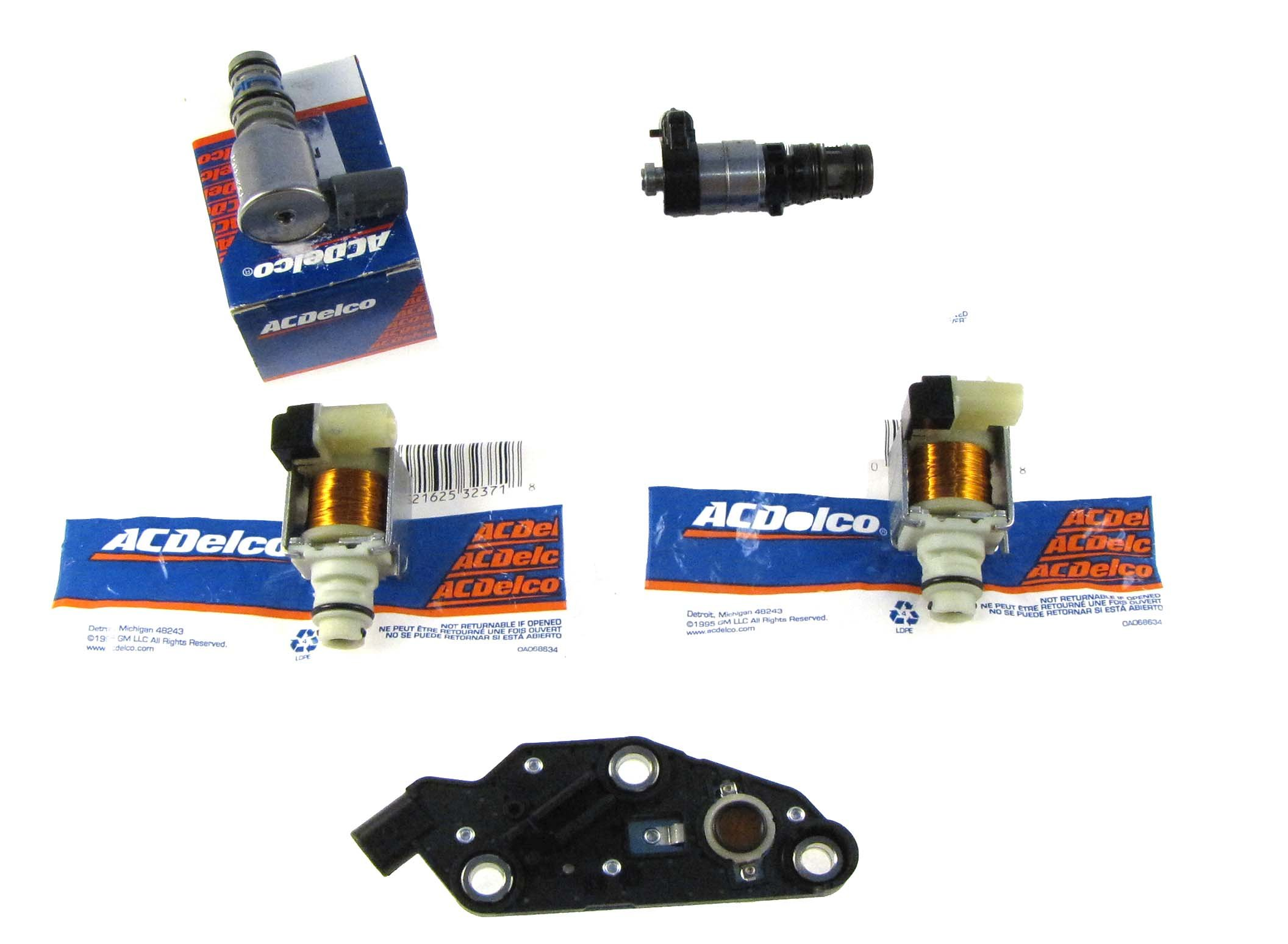 GM 4T65E 5 Piece Solenoid Set, 1 Pressure Switch Style