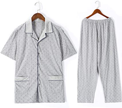 Pijamas Hombre Ropa de Dormir algodón de Manga Corta para ...