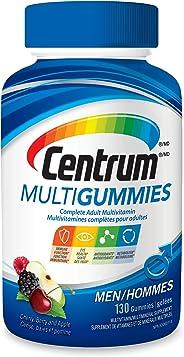 Centrum® Men MultiGummies (130 Count, Cherry, Berry, Apple Flavor) Multivitamin Gummies
