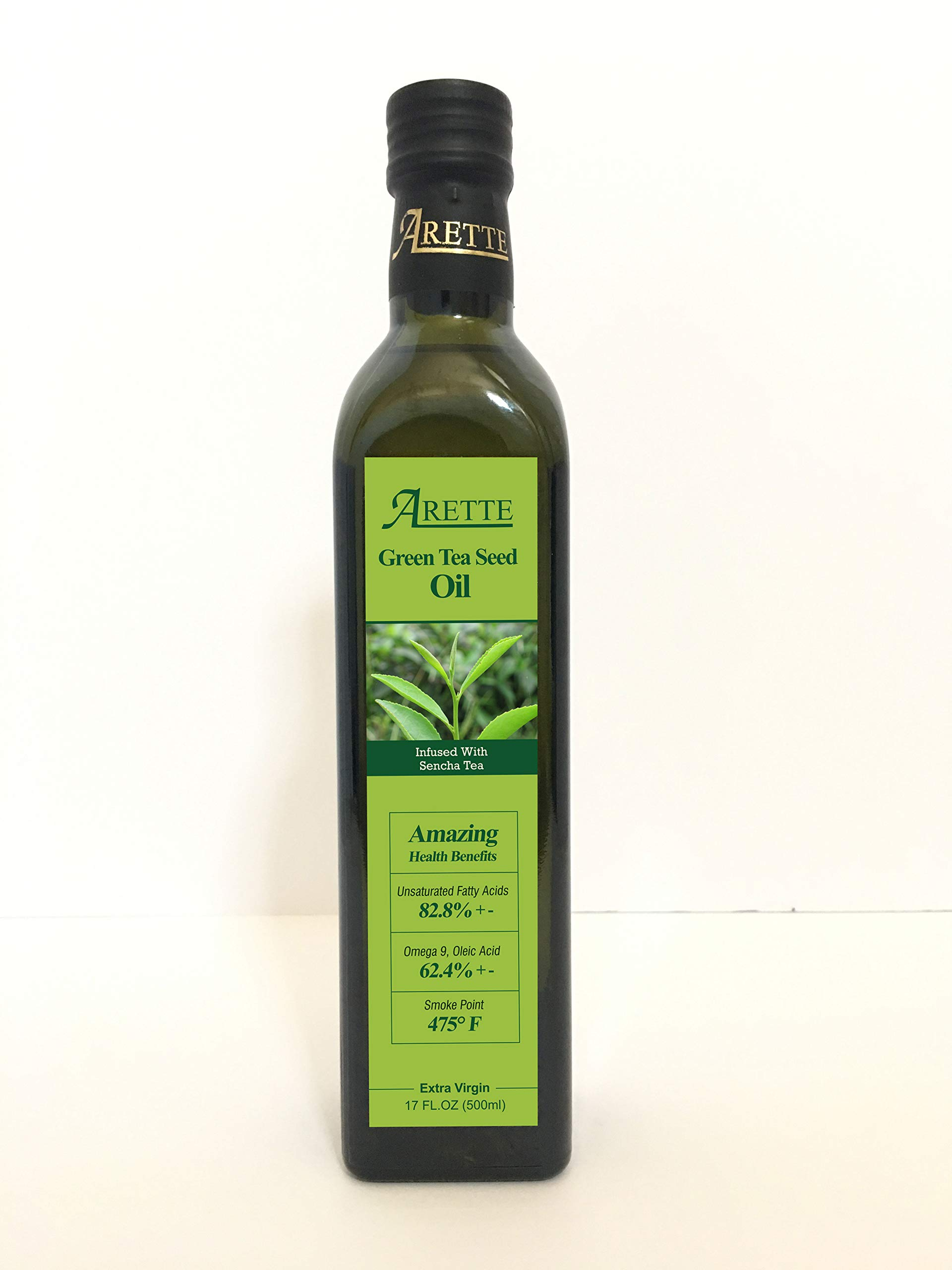 Arette Green Tea Seed Oil with Steamed Green Tea-500ml bottle